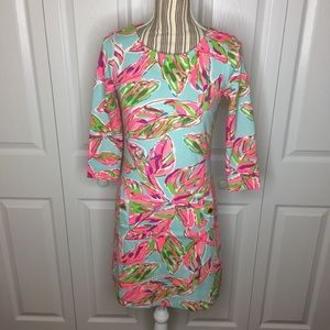 Lilly Pulitzer 3/4 sleeve shift dress